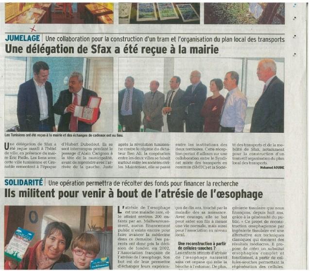 Une délégation de Sfax a été reçue à la mairie